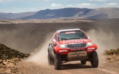 De Villiers 2nd as 3 Toyota Hilux finish Dakar '15 in top 7