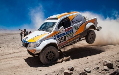 Overdrive Racing & Hallspeed-prepared Toyota Hiluxes lose ground