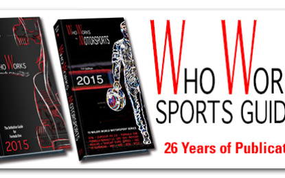 WHO WORKS IN FORMULA 1 – 2015: 26th Edition: Now Available!