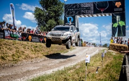 3 Overdrive Toyota Hilux in Top 4 at Italian Baja