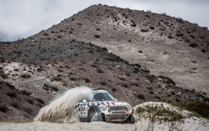 Dakar SS10: 4 MINI ALL4 Racing vehicles now hold top-10 positions