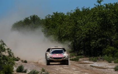 3 x PEUGEOT 3008DKRs lock out Dakar podium