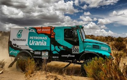FPT Industrial & Cursor 13 engine once again on the podium at Dakar with Petronas DeRooy Iveco Team