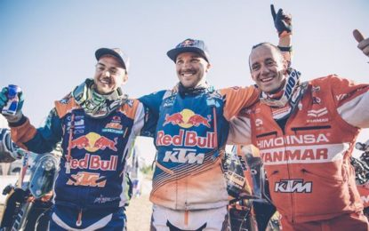 Sam Sunderland leads 3-way podium for KTM – 16 Dakars undefeated