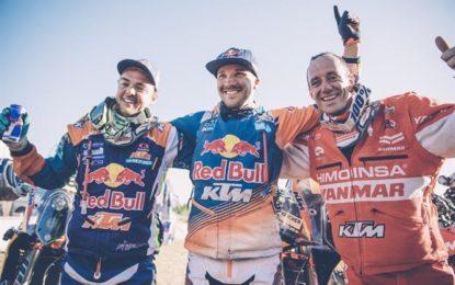 Sam Sunderland leads 3-way podium for KTM – 16 Dakars undefeated