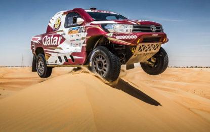 Al-Attiyah dominates Dubai Baja in Toyota Hilux