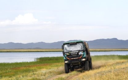Hard stage for De Rooy & PETRONAS De Rooy IVECO on Silk Way