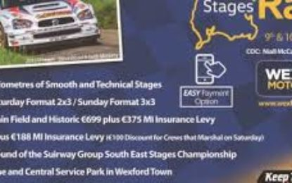 Wales-Limerick duo win Wexford Volkswagen Stages Rally