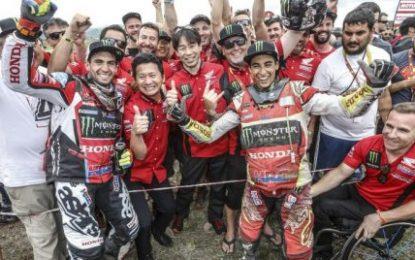 Benavides 2nd for Monster Energy Honda Team on Dakar 2018