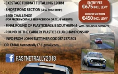 Tourish no tourist driver on Skibbereen West Lodge Hotel Fastnet Rally (Bantry)