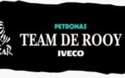 Petronas Team De Rooy Iveco with four PowerStar trucks in Dakar Rally
