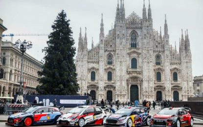 WRC turns on the style at Milan's Piazza del Duomo & Monza Rally Show