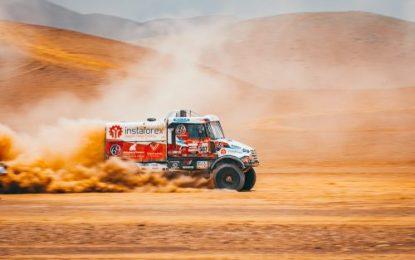 Instaforex Tatra's Loprais celebrates birthday by making it into Dakar Top Ten
