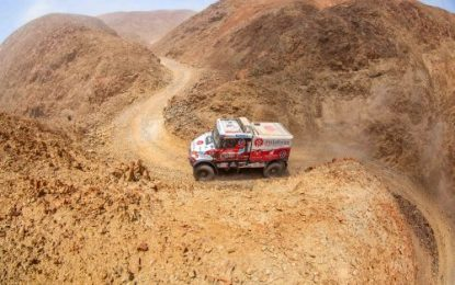 Loprais finishes 5th against strong competition of factory teams at Dakar 19