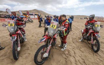 Monster Energy Honda's Brabec arrives at Dakar rest day overall leader