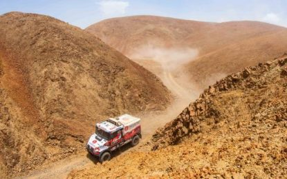 Aleš Loprais almost destroys engine, but holds on to 5th overall in Dakar