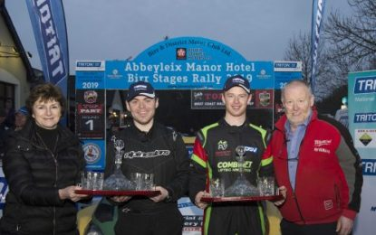 Josh Moffett (Ford Fiesta WRC) wins Abbeyleix Manor Hotel Rally
