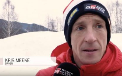 KDM Hire brand ambassador Meeke 4th on Rally Sweden with Toyota Gazoo Racing