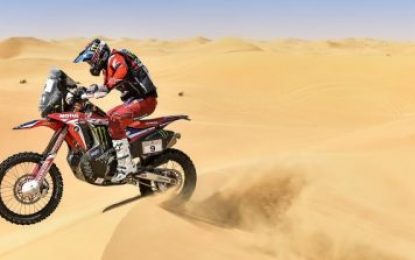 Monster Energy Honda Team get first contact with dunes of Abu Dhabi