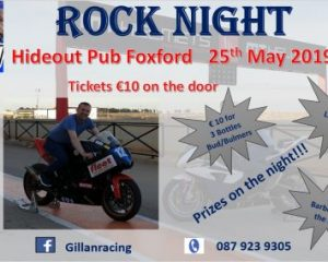 Gillan Racing fundraiser on 25 May