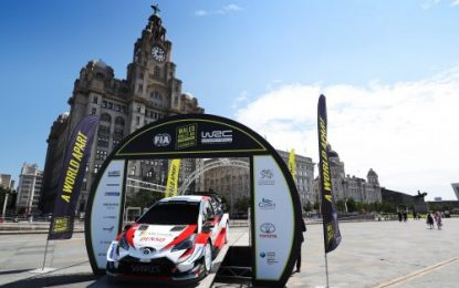 2019 Wales Rally GB sets off from Liverpool