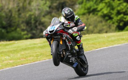 Dunlop Masters Superbike battles rejoined on Mondello Park International Track