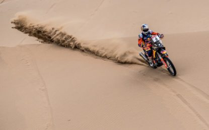 KTM's Sunderland still leads Silk Way after tough SS8