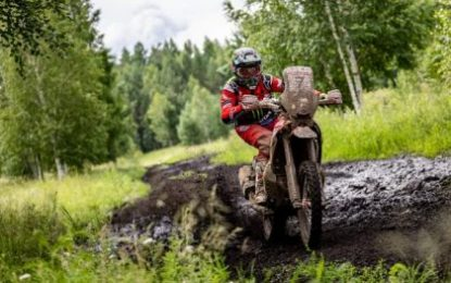 Monster Energy Honda Team's Benavides, first bike leader of the Silk Way Rally 2019