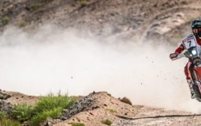 Monster Energy Honda's Benavides rounds off the Silk Way Rally with final stage win