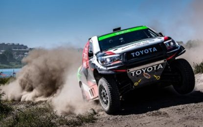 Overdrive Racing's Nasser Saleh Al-Attiyah extends lead in Silk Way with Toyota Hilux