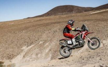 Monster Energy Honda keep podium options open in Atacama Rally