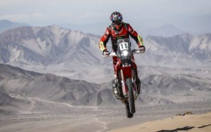 Podium for Honda Team rider Joan Barreda in the Atacama Rally