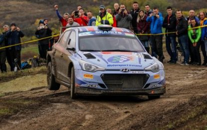 Callum Devine talks about ERC dream debut after claiming 3rd in Rally Hungary