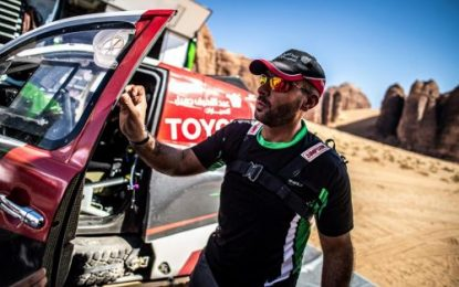 Yasir Seaidan – early leader of Al Ula–Neom Cross-Country Rally, Rd3 Saudi Toyota Desert Rally Championship