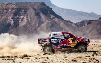 TOYOTA GAZOO Racing' Nasser Al-Attiyah within 30 seconds of overall Dakar lead