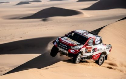 Alonso second fastest on Dakar SS8 for TOYOTA GAZOO Racing