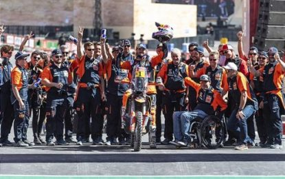 Red Bull KTM Factory Racing's Toby Price third on Dakar 2020