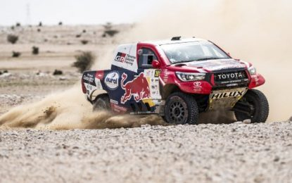 Toyota Gazoo Hilux' Al-Attiyah continues to lead Manateq Qatar Cross-Country Rally (MQCCR)