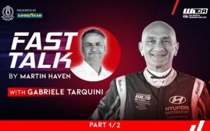 Tarquini guests on WTCR Fast Talk presented by Goodyear: Explains why the fire still burns