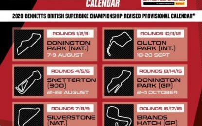 Revised 2020 Bennetts British Superbike #BSBRestart calendar announced