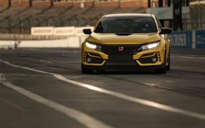 Civic Type R Limited Edition set new lap record at Suzuka Circuit