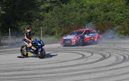 Hyundai Motorsport supports WRC & MotoGP Cross-over event in Italy