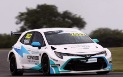 Cosworth-developed TOCA Hybrid car successfully completed its maiden BTCC test run
