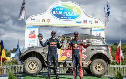 Baja Poland: Stéphane Peterhansel wins rain fight for MINI ALL4 Racing