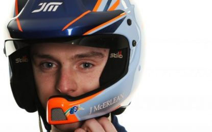Josh McErlean making his FIA European Rally Championship debut on Rally Hungary