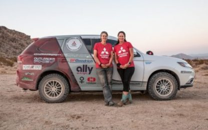 Mitsubishi Motors North America supports Team Record the Journey (RTJ) in the 2020Rebelle Rally