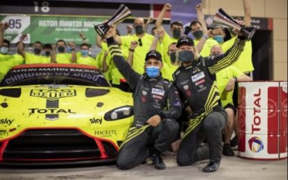 Aston Martin crowns its most successful GT campaign with more World titles