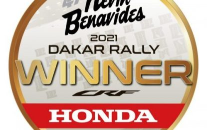 Overall victory for Honda & Kevin Benavides at the 2021 Dakar Rally