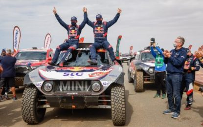 SPARCO triumphs at the Dakar rally 2021 with Peterhansel