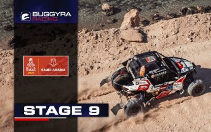 Buggyra Racing's Macháček (Can-Am DV21 Special) leads Dakar class after 9th stage!